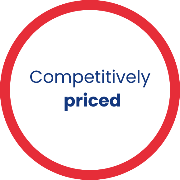 competitively priced